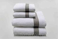 Махровое полотенце 35х50 Devilla SNTEJY03 белые с серым кантом