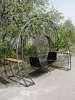 Подвесное кресло-качели с опорой, фото 1