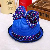 Шляпа Minnie с ушками и бантиком для девочки. 52 см, фото 1