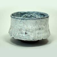 Чаша белая с голубым