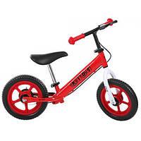 """Беговел детский колеса EVA 12"""" красный, ручной тормоз PROFI KIDS"""