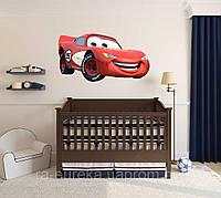 3D наклейка на стену в детскую комнату Тачки