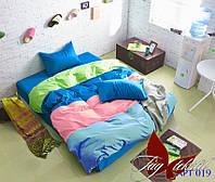 Семейный комплект постельного белья Color mix APT019 ТМ TAG