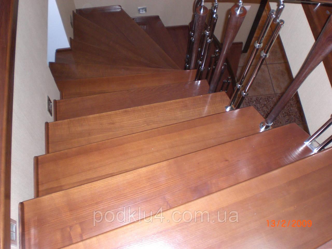 Каркасы лестниц сложной конструкции с последующей облицовкой