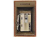 Зажигалка турбо подарочная + 2 фонарика + открывашка