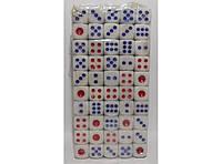 Кости (большие) 100 шт. (I4-5), зарики, игральные кости, игральные кубики, зарики для нард