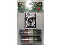 Набор для игры в покер (81 фишка+колода карт) I4-3, покерный набор, набор фишек для игры в покер
