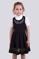 Нарядный школьный сарафан для девочки Дана. Размеры 122- 146 Черный