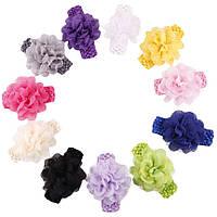 Нарядная повязка на голову цветок (есть разные цвета и модели), фото 1