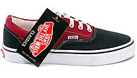 Кеды Vans ERA Black/Red Оригинал, (унисекс), вансы, венсы