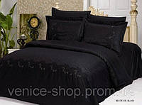 Комплект жаккардового постельного белья Le vele beatrice black