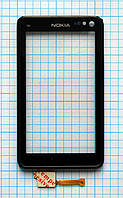 Тачскрин сенсорное стекло для Nokia N8 with frame black