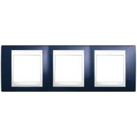 Рамка 3 поста горизонтальная Schneider Electric Unica Plus MGU6.006.842 Индиго/ белый