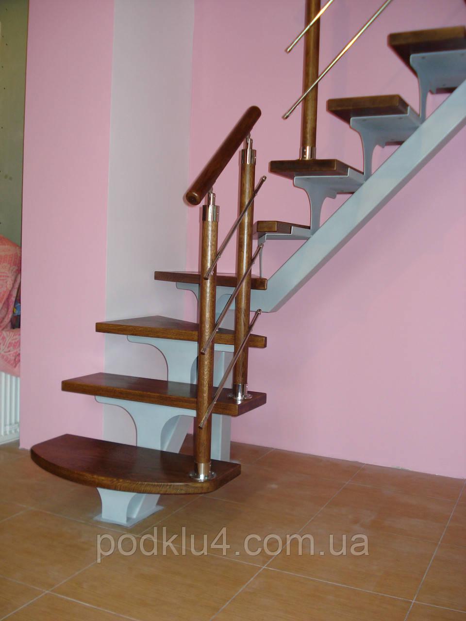 Лестницы на прямом косоуре небольших размеров