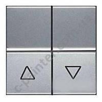 Выключатель кнопочный для жалюзи без фиксации 2 модуля ABB ZENIT Серебряный N2244 PL