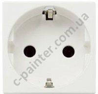 Розетка с заземлением и с защитными шторками ABB ZENIT Белый N2288 BL