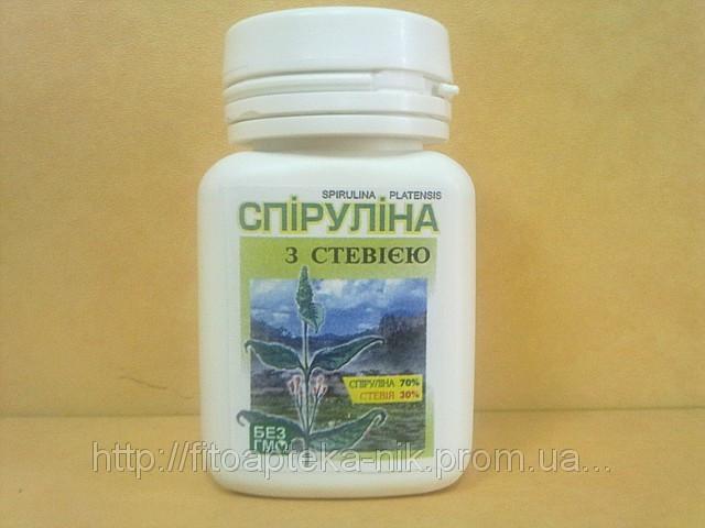 Спирулина со Стевией 80 таблеток