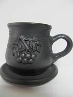 Чашка кофейная Калина (Гаварецкая глиняная посуда)