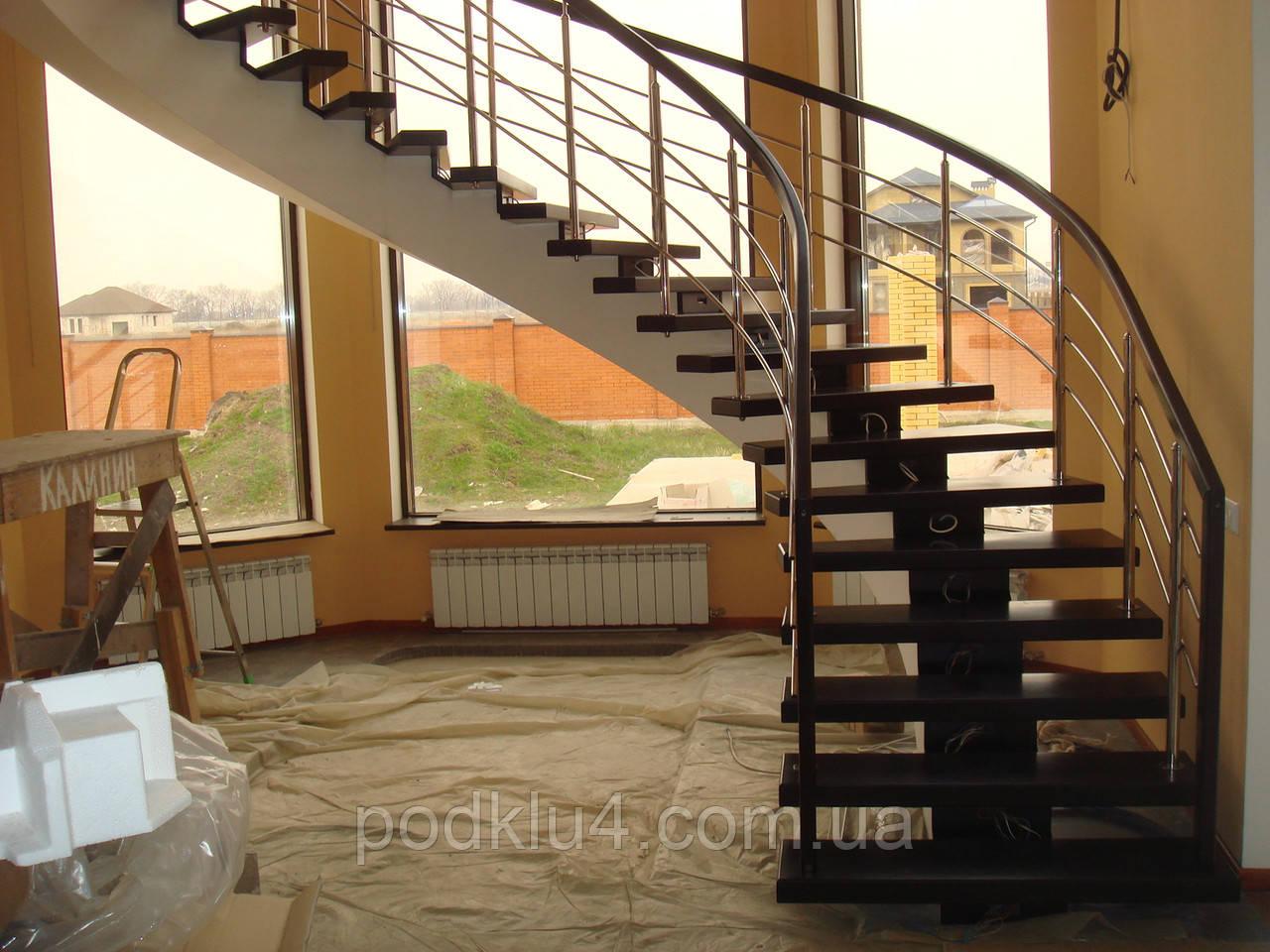 Лестницы на прямом косоуре