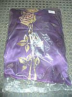 Обивка атлас роза, гвоздика фиолет, фото 1