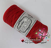 Трикотажная пряжа Celine ribbon Peria, красный