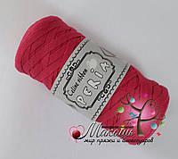 Трикотажная пряжа Celine ribbon Peria, малиновый