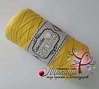 Трикотажная пряжа Celine ribbon Peria, желтый
