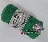 Трикотажная пряжа Celine ribbon Peria, зеленый