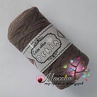 Трикотажная пряжа Celine ribbon Peria, мокко