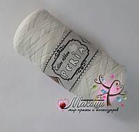 Трикотажная пряжа Celine ribbon Peria, молочный