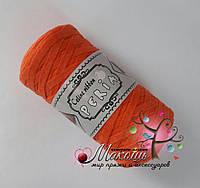 Трикотажная пряжа Celine ribbon Peria, оранж