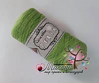 Трикотажная пряжа Celine ribbon Peria, салат