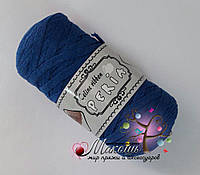 Трикотажная пряжа Celine ribbon Peria, синий
