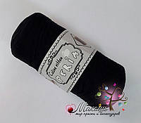 Трикотажная пряжа Celine ribbon Peria, черный