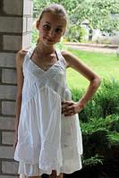Летний сарафан для девочки молочный , фото 1
