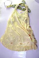 Летний сарафан для девочки лимонный