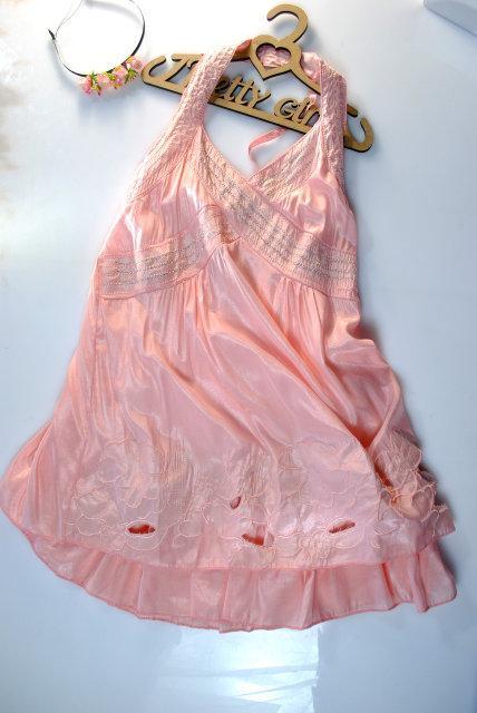 Летний сарафан для девочки нежно-розовый