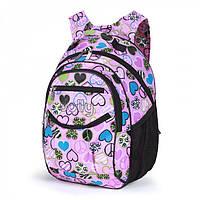 Рюкзак школьный Dolly 585 ортопедический на два отделения для девочки 30 см х 40 см х 22 см