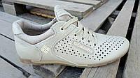 Кожаные летние кроссовки перфорация Columbia SB white