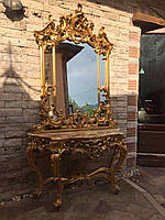 Консоль SILIK. Консольный столик с зеркалом в стиле барокко