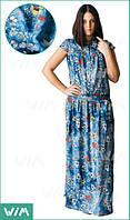 Летнее платье в пол из легкого хлопка 54