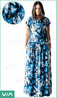 Платье длинное летнее с 3D принтом