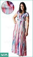 Летнее длинное платье Волна