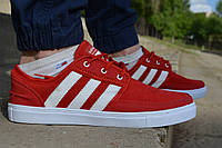 Мужские кеды Adidas Gazelle красные, копия