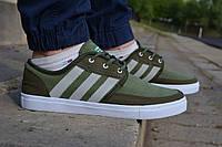 Мужские кроссовки кеды Adidas Gazelle Green адидас газель зеленые хаки