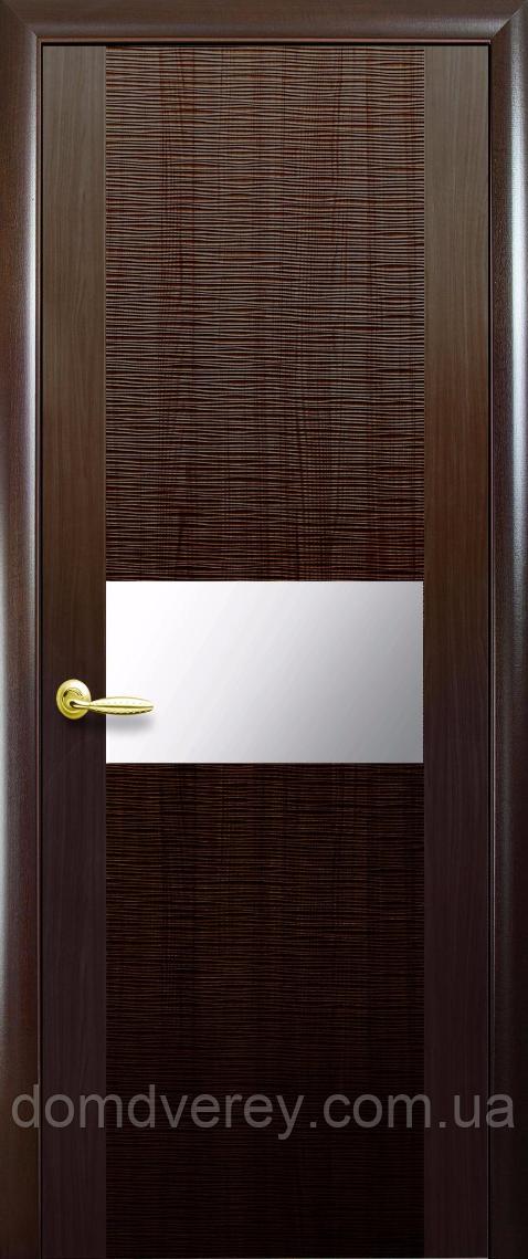 Двери межкомнатные Новый Стиль, Зебрана, модель Аста, с зеркалом