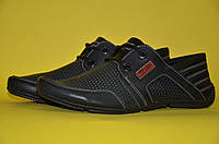 Мужские кожаные летние спортивные туфли