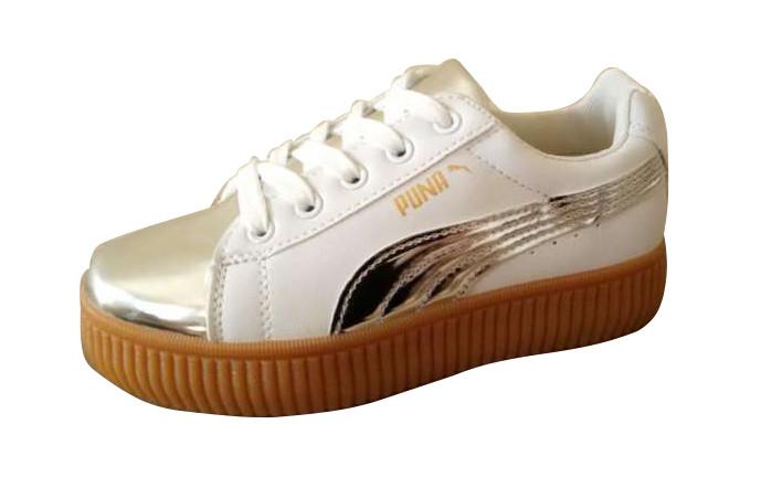 06623fa1124c Кроссовки женские криперы PUMA, белые, фото 1