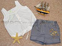 Майка и шорты для девочки р.116