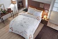 Двуспальное евро постельное белье TAC Natalie Gold Сатин-Mako